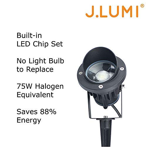 Outdoor Security Lights That Plug In: Area Light Fixture Spotlight Stake Flagpole Flood Home