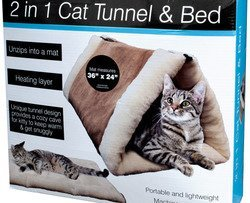 Wmu Cat - WMU 2 In 1 Cat Tunnel & Bed with Heating Layer