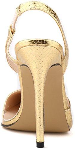 CFP - Sandalias con cuña mujer dorado