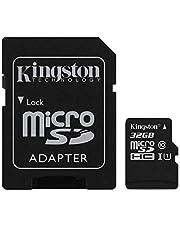 Kingston SDCS/32GB Canvas Select MicroSD, Velocità UHS-I di Classe 10, fino a 80 MB/s in Lettura, con Adattatore SD