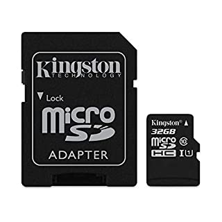 Kingston Canvas Select 32GB MicroSDHC Class 10 MicroSD Memory Card UHS-I 80MB/s R Flash Memory Card with Adapter (SDCS/32GB)