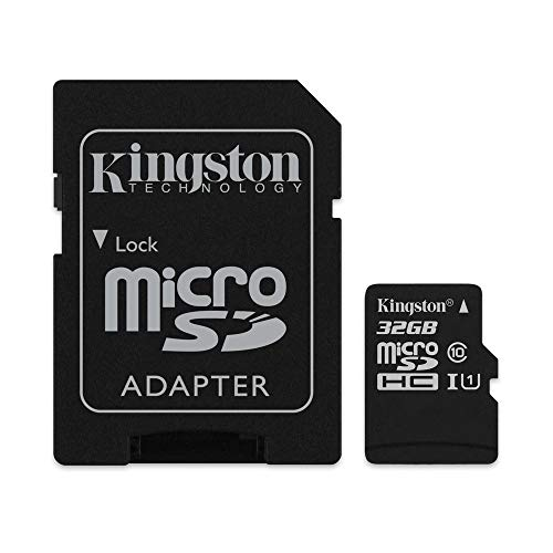 Kingston Canvas Select 32GB microSDHC Class 10 microSD Memory Card UHS-I 80MB/s R Flash Memory Card with Adapter (SDCS/32GB) ()