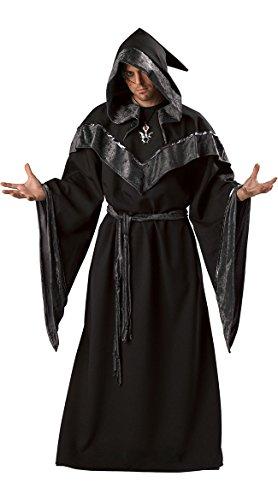 InCharacter Costumes Men's Dark Sorcerer Costume,  Full Length Robe, Black, Large ()