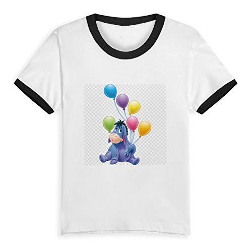 HWSXEDC Happy Summer Time Kisspng-Eeyore-s-Birthday-Party Children's Short Pure Cotton Sleeve T-Shirt Baseball ()