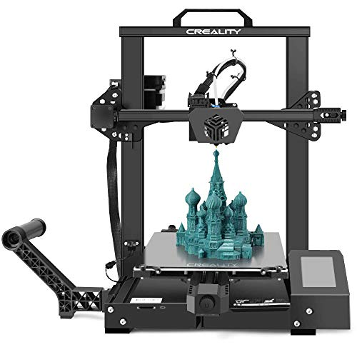 Creality 3D Printer CR 6 SE Leveling-Free, Silent Motherboard, Meanwell Power Supply, Tempered Glass Plate and Dual Z…