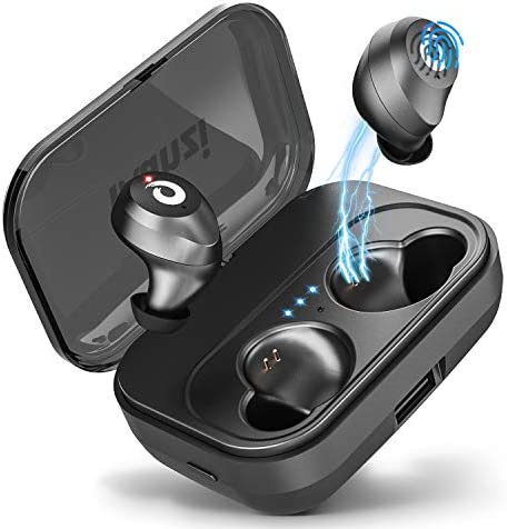 Bluetooth Earbuds True Wireless Earbuds 2019 Newest Version , Bluetooth 5.0 IPX7 Waterproof 3D Stereo Sound Auto Pairing Wireless Headphones in-Ear Bluetooth Headset with Charging Case Black