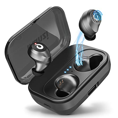 Bluetooth Earbuds True Wireless Earbuds [2019 Newest Version], Bluetooth 5.0 IPX7 Waterproof 3D Stereo Sound Auto Pairing Wireless Headphones in-Ear Bluetooth Headset with Charging Case