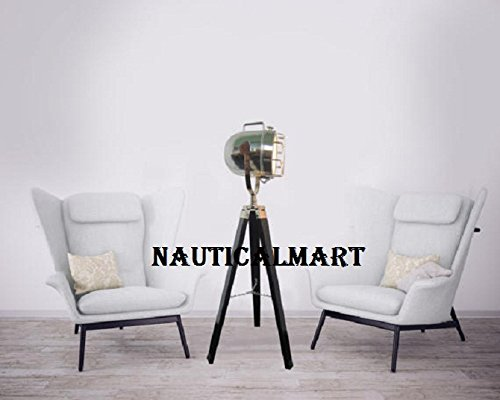 Industrial Vintage Movie Cinema Style floor desk Lamp. Floor Tripod Spot Light Nautical spotlight By Nauticalmart