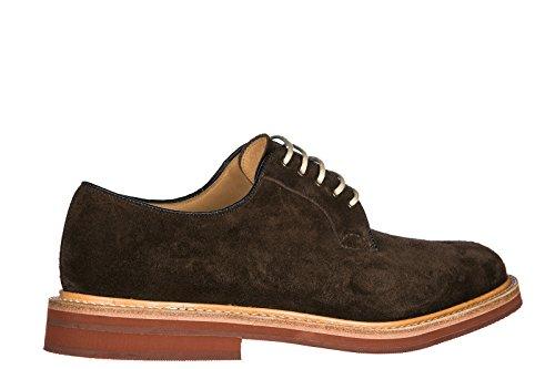 Churchs Clásico Zapatos de Cordones EN Ante Hombres Nuevo Derby fuelbeck Marrón
