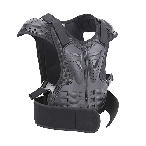 BARHAR Kids Dirt Bike Body Chest Spine Protector Armor Vest Protective Gear for Dirtbike Bike Motocross Skiing Snowboarding Black (S for height 39