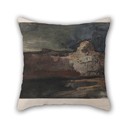 Artistdecor Oil Painting Thomas Moran - Grand Canyon In Stormy Weather, Arizona Pillow Cases 18 X 18 Inches / 45 By 45 Cm For Kids Boys,bedding,adults,shop,boys,deck Chair With Twice Sides