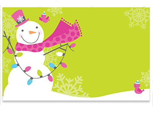 Pack Of 50, Snowman Jubilee Gloss Enclosure Card 3-1/2 x 2-1/4'' Made In USA by Generic
