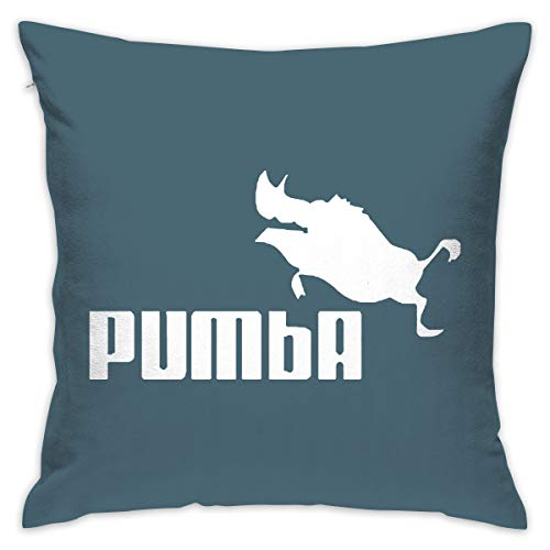 Yangkun Throw Pillow Covers Pumba Pig 18 X 18 Inches Cushion Sham for Couch Bed Sofa Painted Colorful Geometric Print Daily Decorations for Home D¨¦cor Square Coastal Cushion -