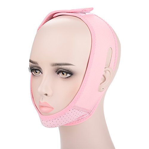 TMISHION Facial Slimming Belt Mask Strap Breathable Face Double Chin Care Weight Loss Bandage