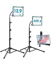 Ipad Tripod Stand, Height-Adjustable 20-67 Inch Floor Stand for Tablet, Gooseneck Stand Tripod for 9.5-14.5 Tablets/IPad 10.2/iPad 6/7/Air 3 & More-Extra Tablet Holder Stand