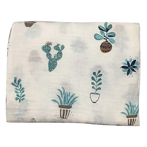 - Swaddle Blankets for Boys and Infant Newborn Girls, Multipurpose Use for Warm Sleeping Bath (Cactus)