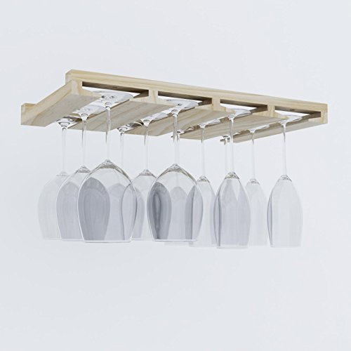 Artifact-DesignWine-Glass-Rack-Makes-Dull-Kitchens-or-Bar-Looks-Great-Perfectly-Fits-6-12-Glasses-Under-Cabinet-Easy-to-Install-with-Included-Screws-Great-Hanging-Bar-Glass-Rack-Natural