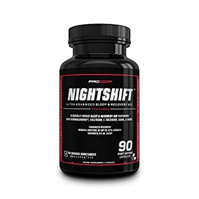 NIGHTSHIFT - Natural Advanced Sleep & Recovery Aid, Testosterone Booster & Cortisol Reducing Agent; 90 V Caps