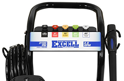 Excell EPW2123100 3100 PSI 2.8 GPM Cold Water 212CC Gas Powered Pressure Washer by excell (Image #5)