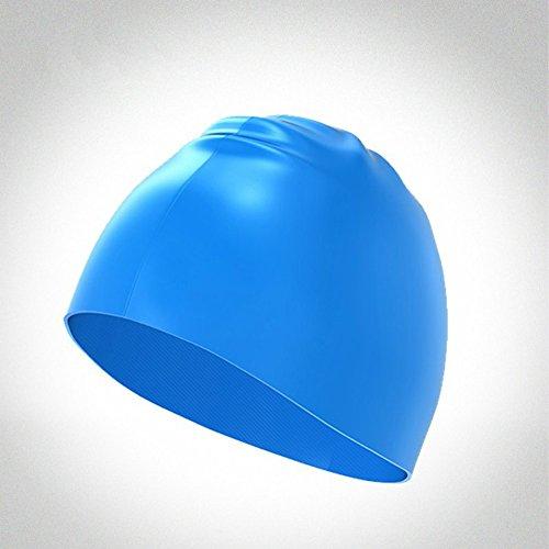 Water Polo Cap Set - YiGooood Adult Waterproof Silicone Swim Cap Swimming Cap Ear Protectors for Men Women Long Hair Swimming Cap