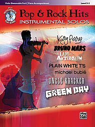 Alfred Pop & Rock Hits Instrumental Solos Viola Book & CD by Alfred