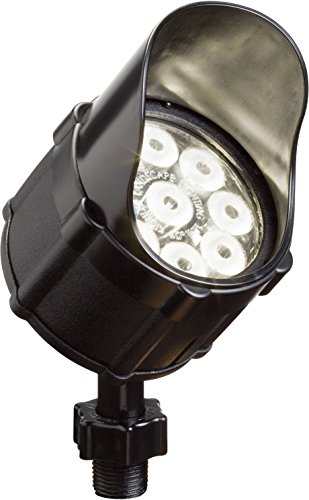 Kichler Lighting 15753BKT LED Accent Light 9-Light Low Voltage 60 Degree Wide Flood Light, Textured Black with Clear Tempered Glass