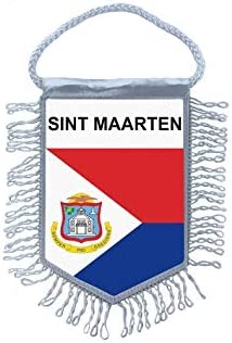 Akachafactory Fanion Mini Drapeau Pays Voiture Decoration sint Maarten Saint Martin