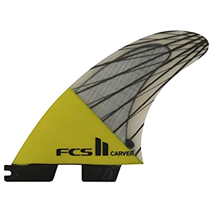 Image of FCS II Carver Performance Core Carbon Tri Fin Set - Yellow