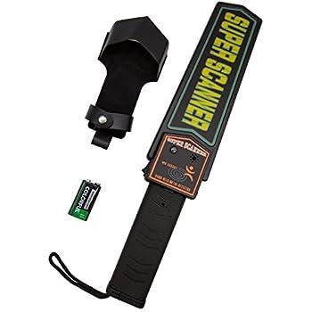 KAMURES Handheld Metal Detector Security Scanner Wand with 9V Battery and Belt Holster, Adjustable Sensitivity, Sound & Vibration Modes for Airport, Bank, ...