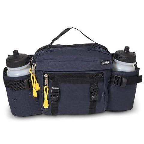 Dual Hydration Waist Pack Navy By Everest - Lumbar Pack