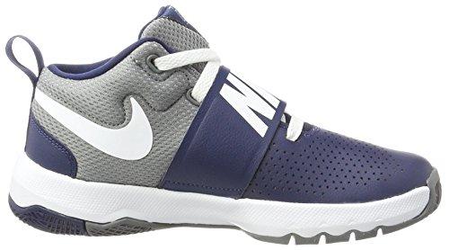 Nike Mädchen Team Hustle D 8 GS Basketballschuhe Blau (Midnight Navy/white/cool Grey)