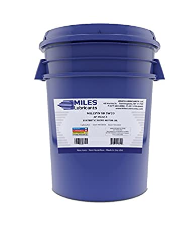 Milesyn SB 5W20 API GF-5/SN Synthetic Blend Motor Oil 5 Gallon Pail