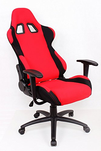 Race Car Seat Chair : Ez lounge racing car seat office jeep gaming chair red