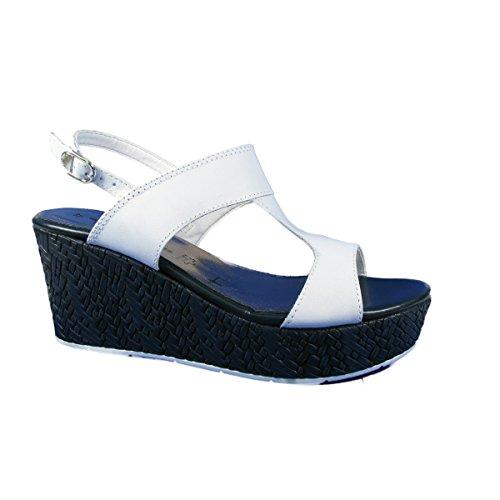 "TAMARIS-TAMARIS ""28361-26-Sandalias de 36 a 40 blanco / azul marino"