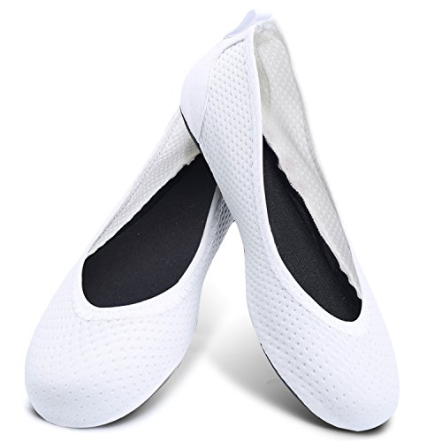 Centipede Demon Womens Flats Water Shoes Fitness Shoes Ballet Shoes Footwear Bright White