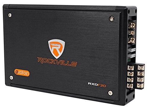 Rockville RXD-F20 Micro Car/ATV Amplifier 1600w Peak 4 Channel 4x100W/CEA Rated