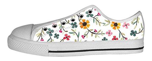 Womens Canvas Låga Kängor Vackert Mönster Designmönster Shoes32