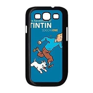 Las aventuras de Tintín 01 para funda Samsung Galaxy S3 9300 funda caja del teléfono celular cubren negro