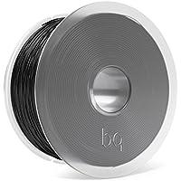 BQ Easy Go - Filamento PLA de 1.75 mm (100% PLA, resistente a la acetona, rápido endurecimiento) color negro oscuro