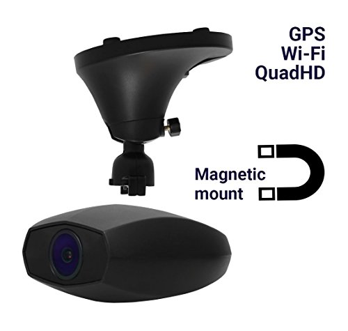 Cheap Dash Cam GPS WiFi Gazer F735g 2560x1440p Quad HD Car DVR with Built-in Wi-Fi GPS Dashboard Camera Recorder Magnetic Mount F1.8 Aperture Time-Lapse Parking Mode WDR G-Sensor