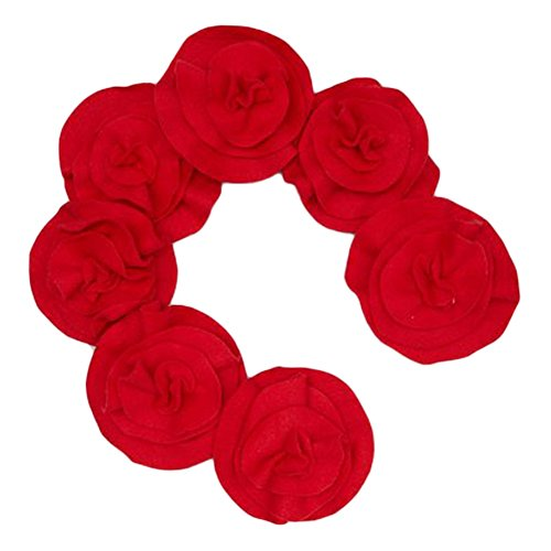 Little Miss Fashion Girls Red Rosette Scarf by Little Miss Fashion