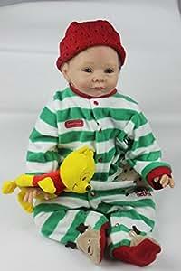 NPK Collection Muñeca bebé recién nacido 22inch 55cm, muñeca realista bebé recién nacido de juguete regalo para niñas princesa juguetes para niños regalo de cumpleaños regalo de navidad