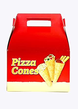 Pizza Cone Box   20 Pack   8 Pizza Holders Each Box   Carry easily, can use for Ice cream cones too