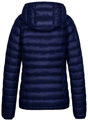 Wantdo Insulated Jacket Packable Lightweight Hooded Down Women's Navy Coat Y6qrwvY