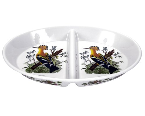 Portmeirion Birds of Britain Earthenware 14-Inch Oval Divided Dish