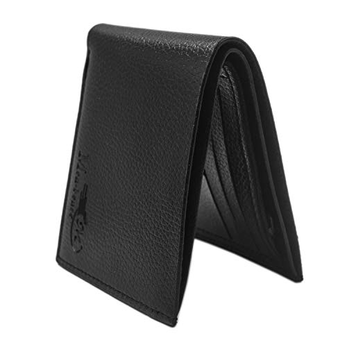 Fkion Embossed Black Leather Bifold Wallet