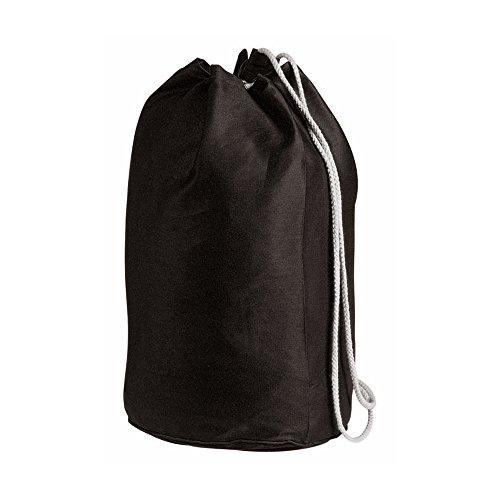 cordón de algodón marinero Bolsa - lona de algodón de lona negro