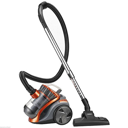 1200W 2L Orange/Grey Bagless Compact Cylinder Hoover Vac Vacuum Cleaner-3 Years FREE Guarantee!