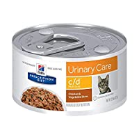 Hill's Pet Nutrition C/D Multicare Urinary Care Chicken & Vegetable Stew Canned Cat Food, 2.9 oz, 24 Pack Wet Food