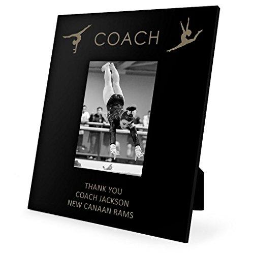 (Personalized Gymnastics Coach Frame | Engraved Gymnastics Picture Frame by ChalkTalk Sports | Vertical 5X7 )